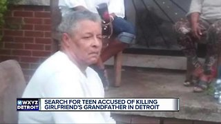 Search for teen accused of killing girlfriend's grandfather in Detroit
