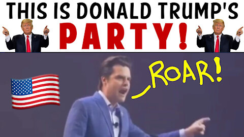 THIS IS DONALD TRUMP'S PARTY!!