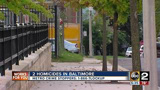One man dead, another injured, in NW Baltimore - Video