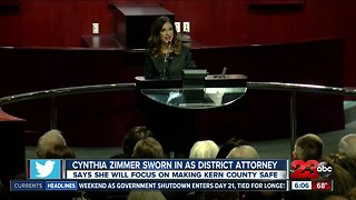 Cynthia Zimmer sworn in as district attorney - Video