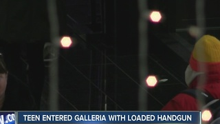 Teen entered Galleria with loaded handgun - Video