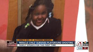 Parents of girl shot on playground speak out for first time - Video