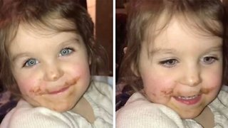 Adorable Kid Lies About Eating Chocolate