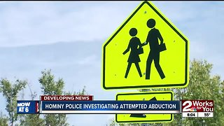 Hominy police investigating attempted abduction