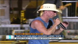 Counterfeit ticket alert for Kenny Chesney's Tampa concert - Video