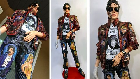 Artist creates amazing real-life sculpture in tribute to music legend Michael Jackson