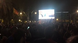 Crowds Gather Near Catalonia Parliament as President Claims Secession Mandate - Video