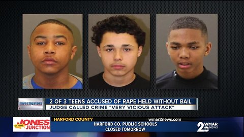 Two of three teens charged with raping young woman ordered held without bail