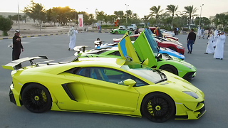 Qatar's Multi-Million Dollar Supercar Meet: RIDICULOUS RIDES - Video