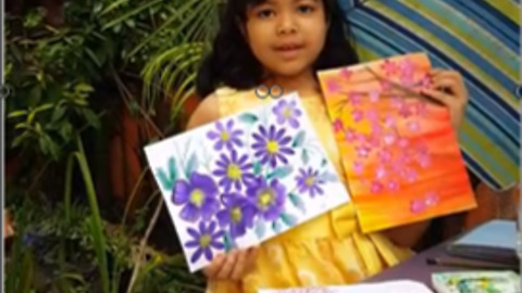 How to Paint Flowers Using Simple, Easy Single Stroke