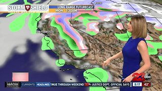 Stable and sunny today, rain chances mid-week