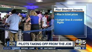 Pilot shortage affecting airline industry - Video