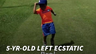 5-Yr-Old Left Ecstatic After Nailing Incredible Tee Shot - Video