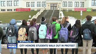 City Honors students walk out in protest - Video