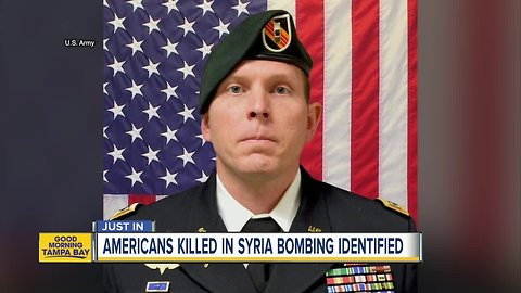 Florida solider killed in Syria bombing