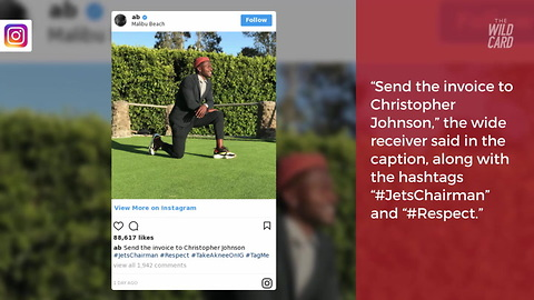 Look: Antonio Brown Takes A Knee, Sends Direct Message To NFL