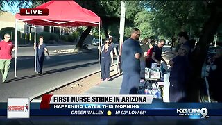 Tucson nurses hold strike
