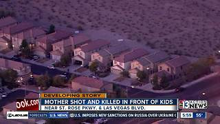 Mother shot and killed in front of kids - Video