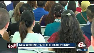 New citizens take oath in Indy - Video
