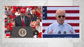 Trump and Biden hold dueling rallies in Tampa