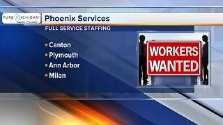 Phoenix services hiring full service staffing at several metro Detroit locations - Video