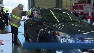 Drive-thru TOYS FOR TOTS donation drive held at Olmsted Township Fire Department