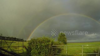 Double rainbow caught on camera in Northern Ireland - Video