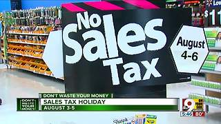 Do's and don'ts of Ohio's Sales Tax Holiday - Video