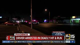 Hit-and-run driver accused of hitting and killing woman in Phoenix Sunday has been arrested