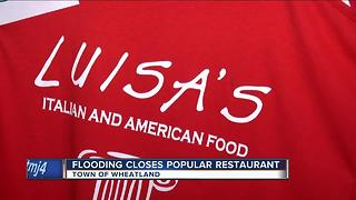 Flooding keeps popular restaurant closed