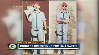 What did Aaron Rodgers dress as for Halloween? - Video