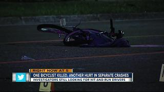 One bicyclist killed, another hurt in separate crashes - Video