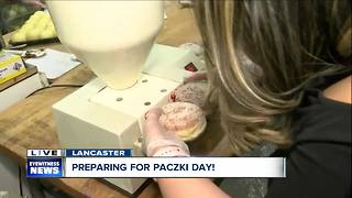 Filling Chrusciki's signature paczki - Video