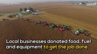 Community Harvests Crop for Farmer with Cancer - Video