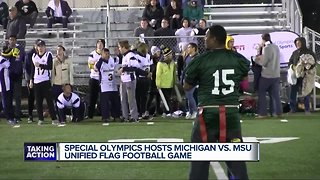 MSU beats Michigan in Special Olympics Unified Flag Football