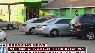 no charges after 4-year-old left in day care van - Video