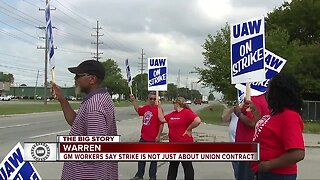GM workers say strike is not just about union contract