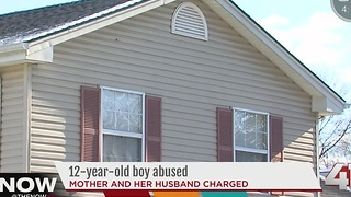 12-year-old boy abused, mother & her husband charged - Video