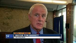 Mayor Barrett calls for new sales tax to avoid police and fire cits - Video