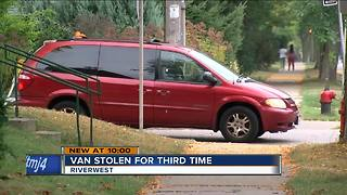 Milwaukee musician's van stolen three times