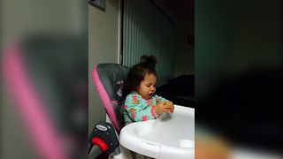 Little Girl's First Lime Taste Test - Video