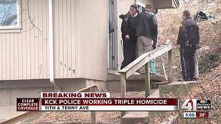 KCK police investigate triple homicide - Video