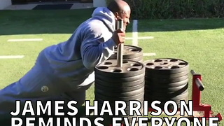 James Harrison Reminds Everyone He's A Workout Warrior