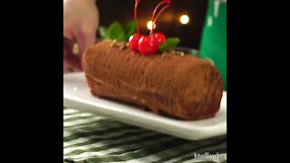 Christmas Log with Maria Cookies