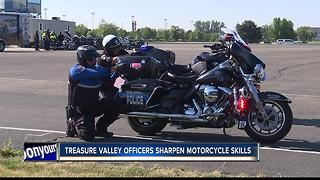 Treasure Valley officers sharpen motorcycle skills - Video