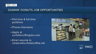 Dunkin' Donuts Hiring in Southwest Florida
