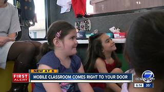 Classroom on wheels brings pre-school education to kids in Federal Heights mobile home park - Video