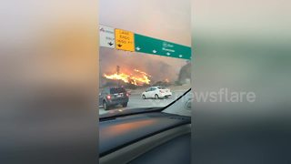 More footage of fast-moving California fire - Video