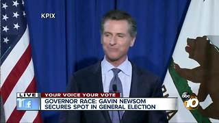 Gavin Newsom wins CA gubernatorial primary - Video