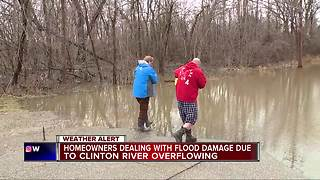 Macomb County residents deal with flooding from the Clinton River